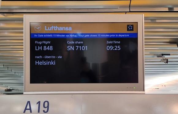 Abflug in Frankfurt Richtung Helsinki