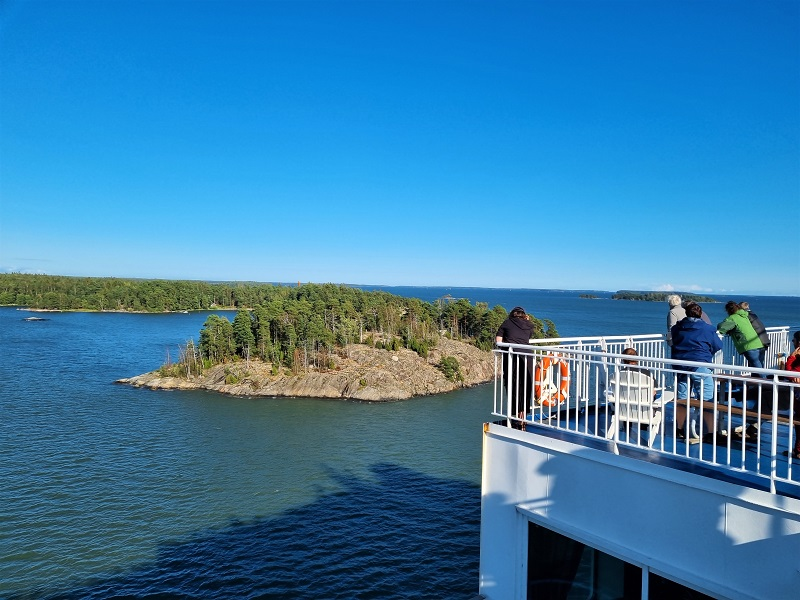 Ausfahrt der Finnlines Finnlady in Helsinki