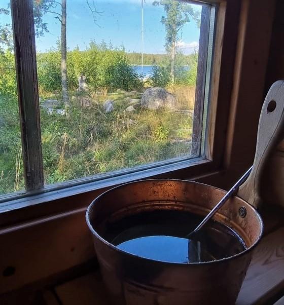 Sauna auf Majorsgrund Island