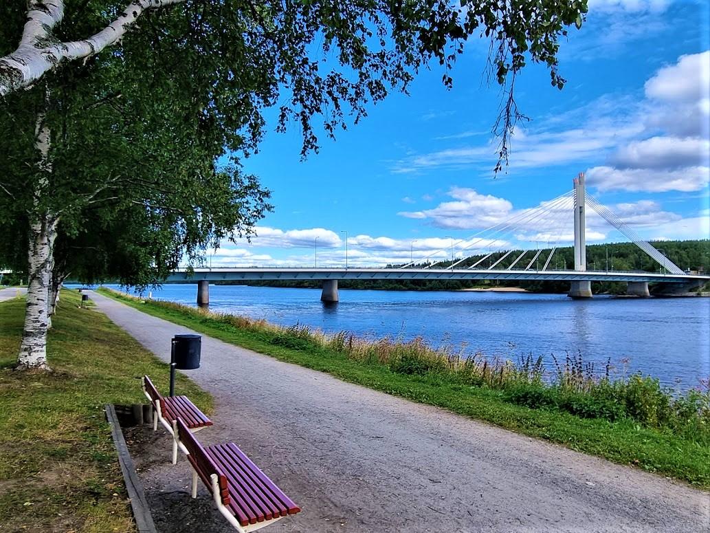Flussufer in Rovaniemi