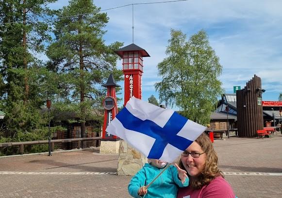 Am Polarkreis in Rovaniemi