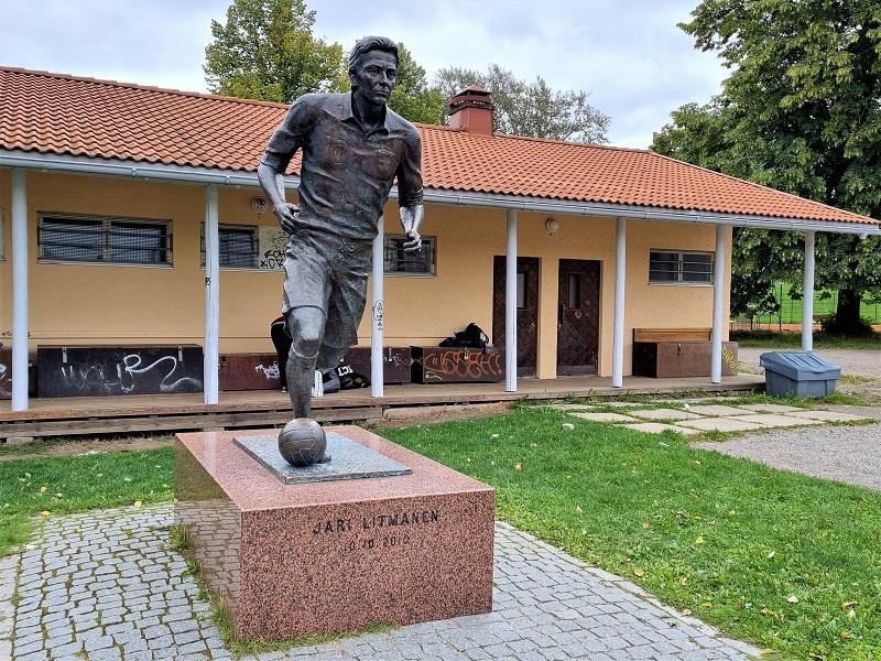 Jari Litmanen Statue in Lahti